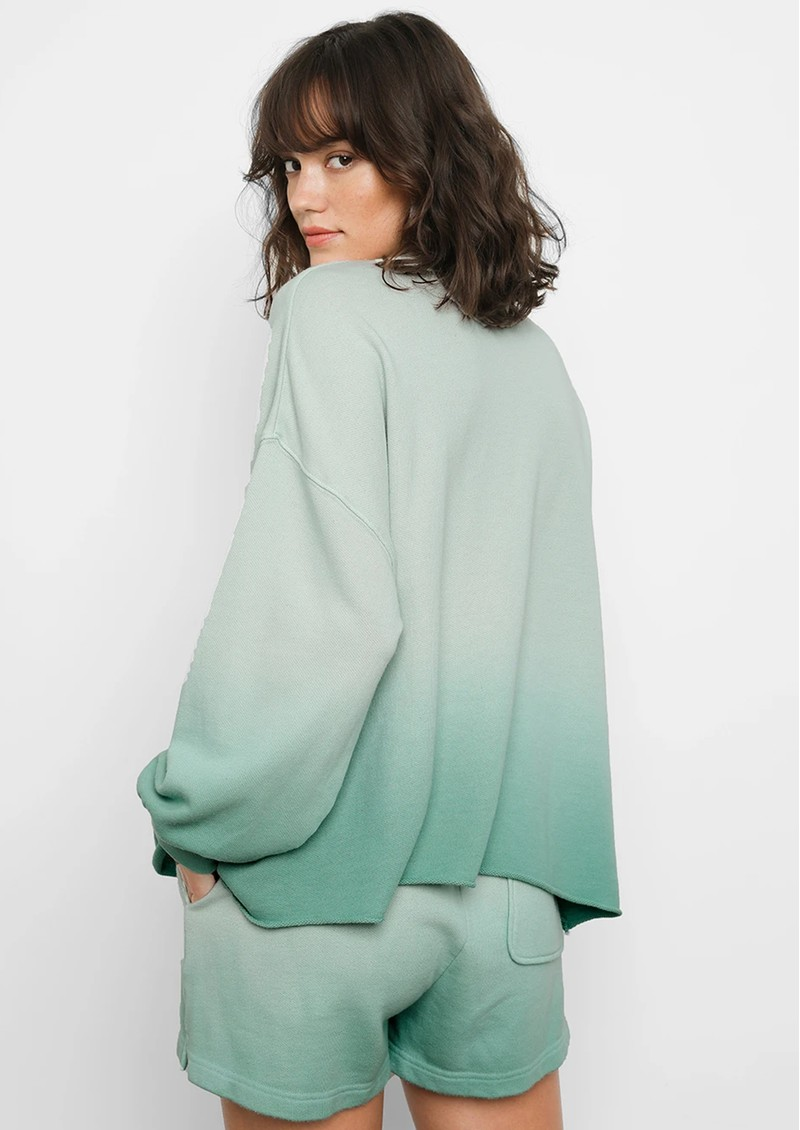 Rails Reeves Cotton Mix Sweatshirt - Aqua Dip Dye main image
