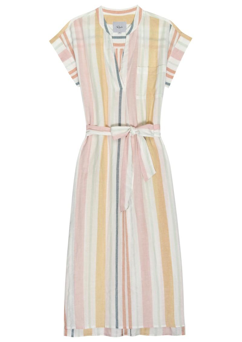 Rails Suri Linen Mix Dress - Melon Stripe main image