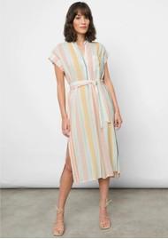 Rails Suri Linen Mix Dress - Melon Stripe