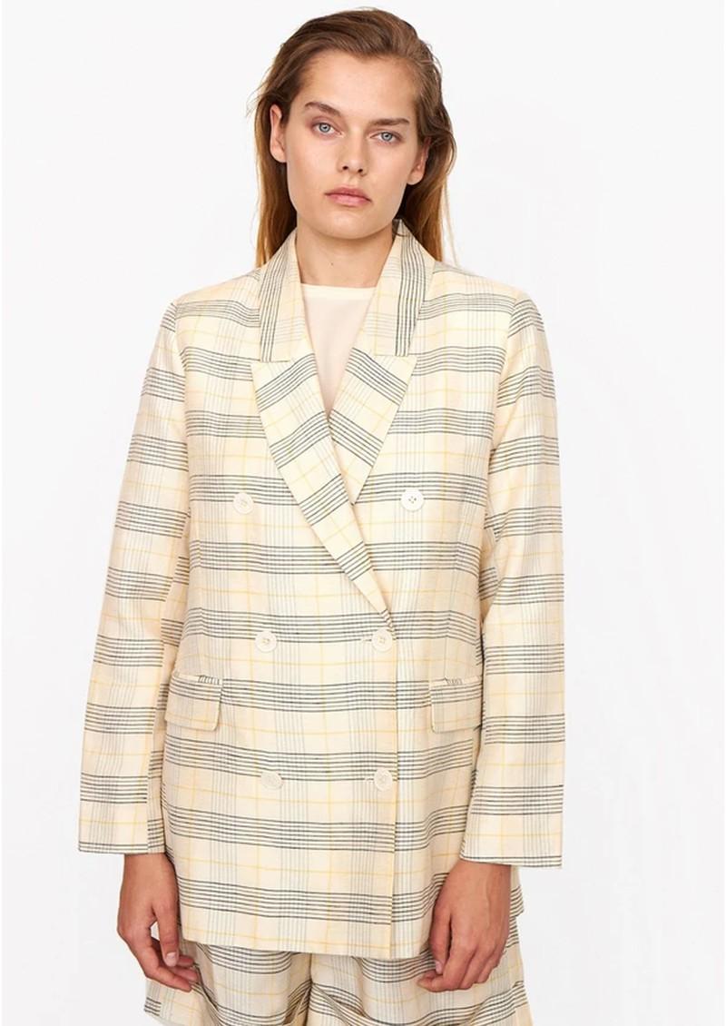 SECOND FEMALE Linau Checked Blazer - Parchment main image
