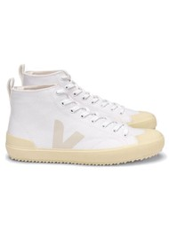 VEJA Nova Canvas High Top Butter Sole Trainers - White