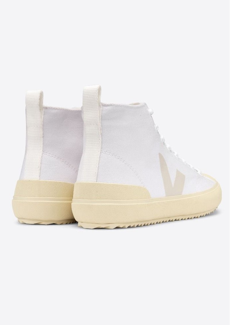 VEJA Nova Canvas High Top Butter Sole Trainers - White main image