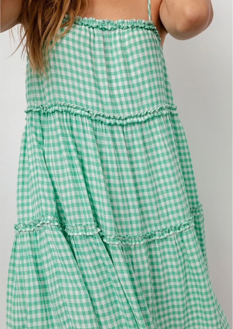 Rails Caralyn Linen Mix Dress - Basil Gingham main image