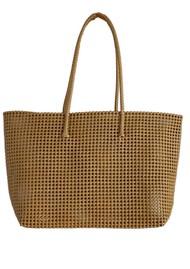 HAMMAMHAVLU Torba Oversized Basket Bag - Matt Gold