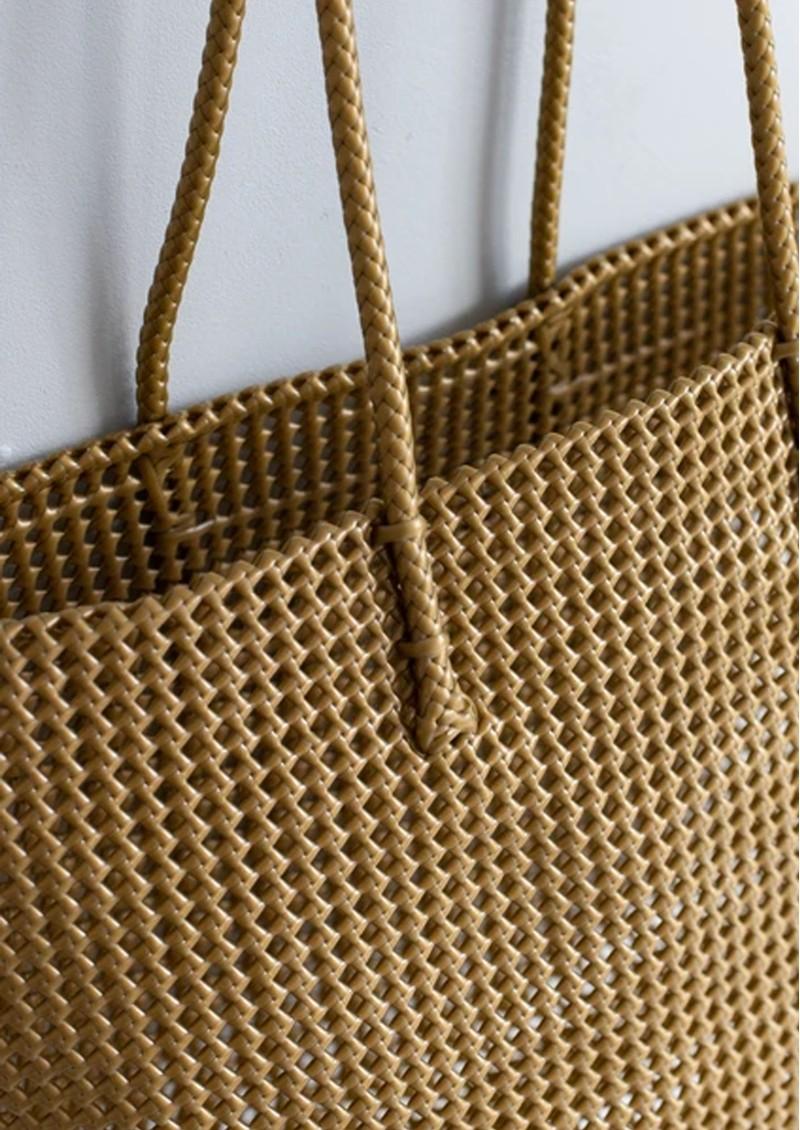 HAMMAMHAVLU Torba Oversized Basket Bag - Matt Gold main image