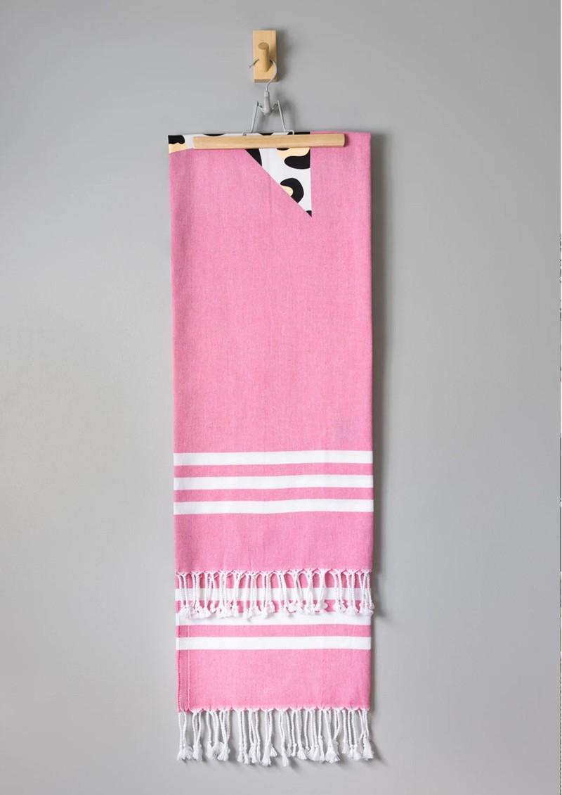HAMMAMHAVLU Esra Leopard Star Towel - Pink Loepard main image