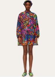 STINE GOYA Neva Short Printed Dress - 60s Allover Print