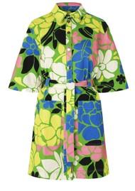 STINE GOYA Carli Short Organic Cotton Denim Dress - Banana Leaf