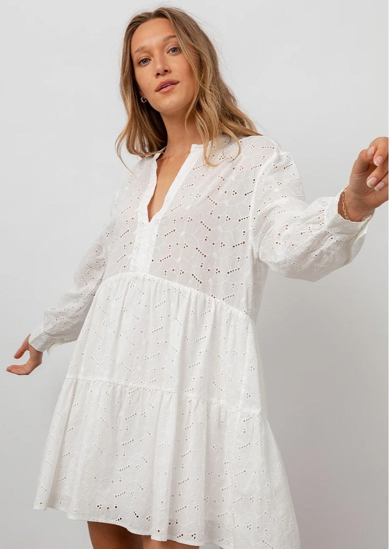 Rails Layla Cotton Dress - White main image