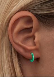 LULU COPENHAGEN Single Colour Enamel Hoop - Light Green