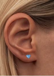 LULU COPENHAGEN Single Love U Stud Earring - Light Blue
