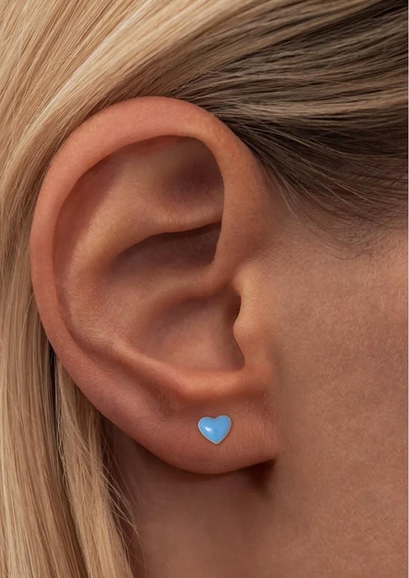 LULU COPENHAGEN Single Love U Stud Earring - Light Blue main image