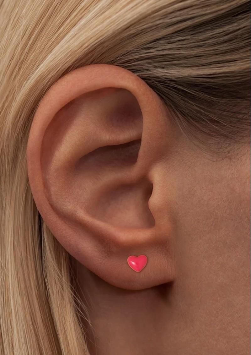 LULU COPENHAGEN Single Love U Stud Earring - Pink main image