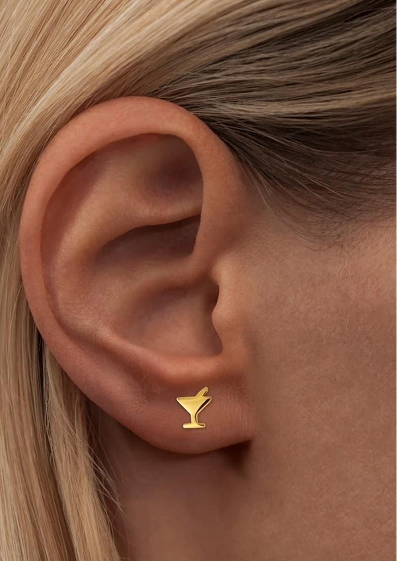 LULU COPENHAGEN Single Saturday Stud Earring - Gold main image