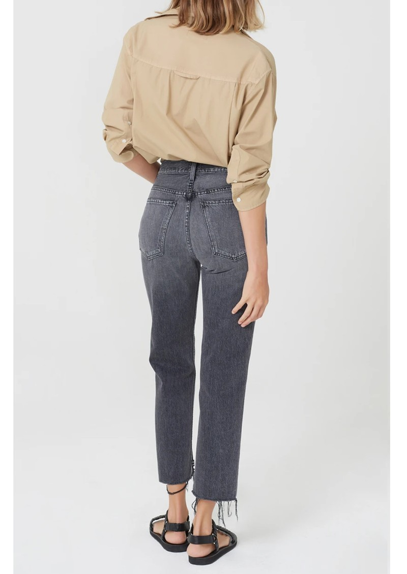 CITIZENS OF HUMANITY Daphne Crop High Rise Slim Straight Leg - Free Fall main image
