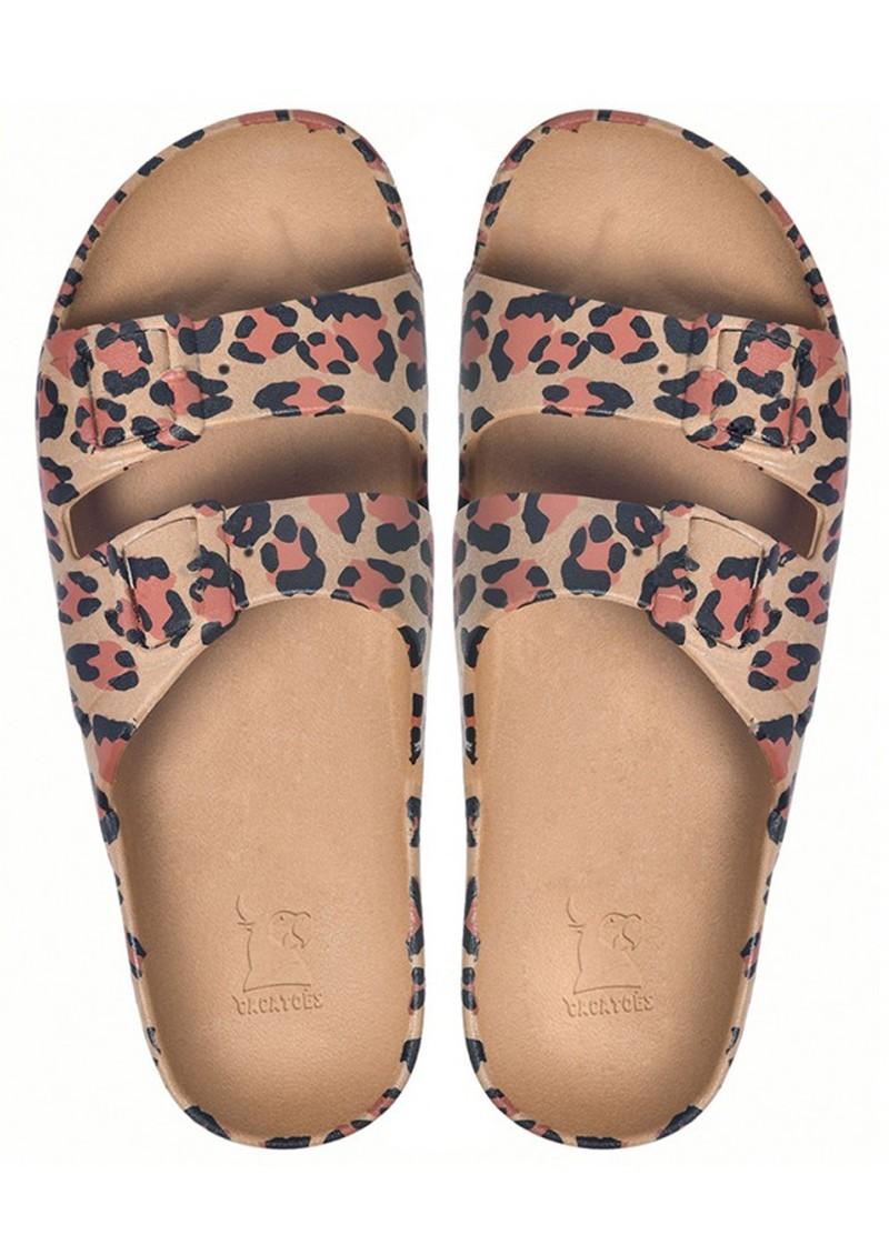 CACATOES Amazonia Leopard Slider Sandals - Camel main image
