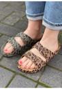 Amazonia Leopard Slider Sandals - Dark Khaki additional image