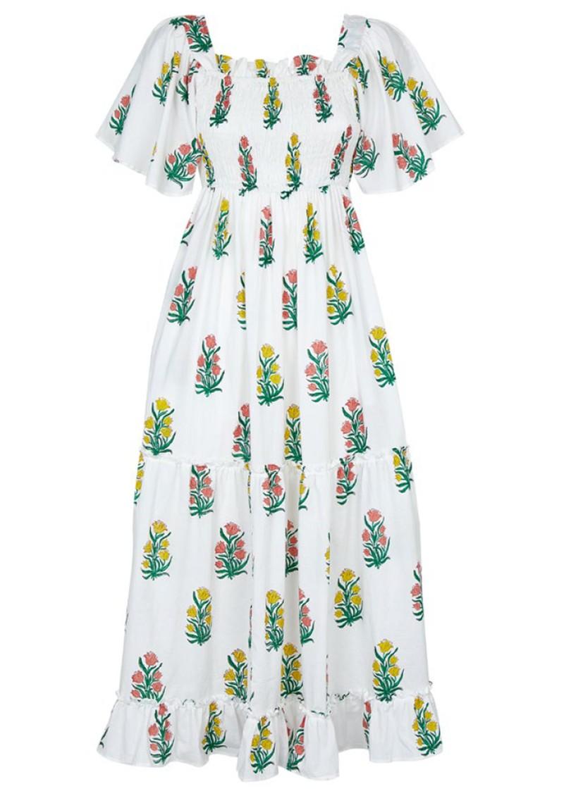 PINK CITY PRINTS Lolita Organic Cotton Dress - Acid Bouquet main image