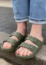 Florianopolis Studded Sandals - Dark Khaki additional image