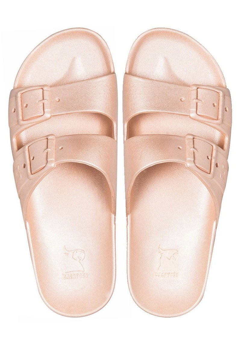 CACATOES Baleia Slider Sandals - Nude main image