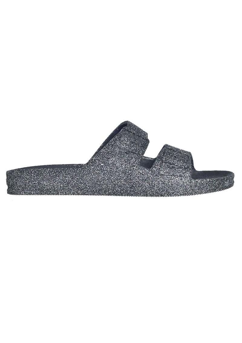 CACATOES Trancoso Glitter Slider Sandals - Grey main image