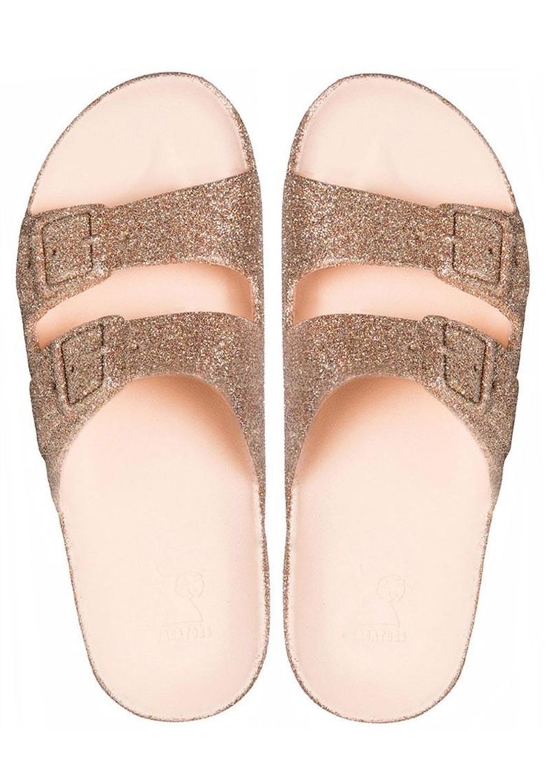 CACATOES Trancoso Glitter Slider Sandals - Nude main image