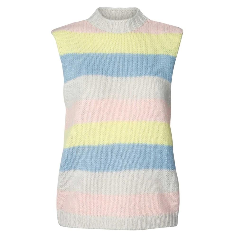 Rosa Knitted Vest - Stripe