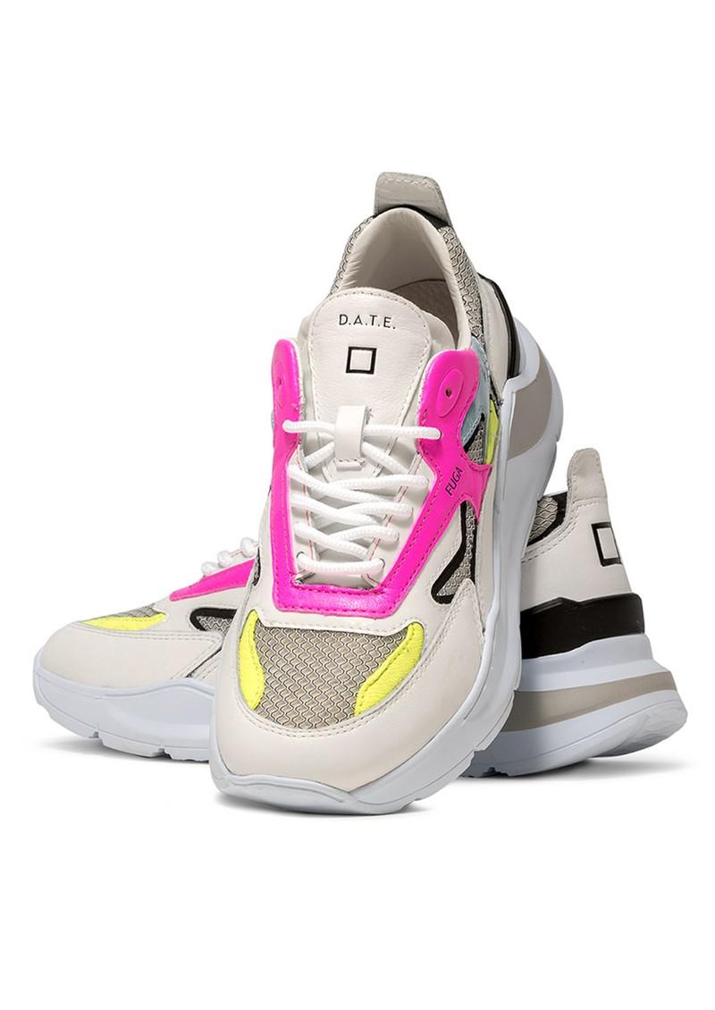 D.A.T.E Fuga Running Trainer - Flash White & Black main image