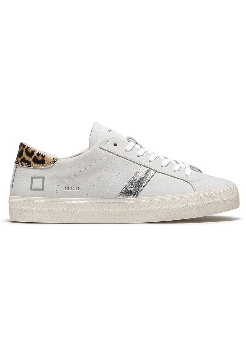 D.A.T.E Hill Low Trainers - Vintage White & Leopard main image
