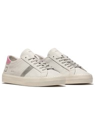 D.A.T.E Hill Low Trainers - Vintage White & Silver