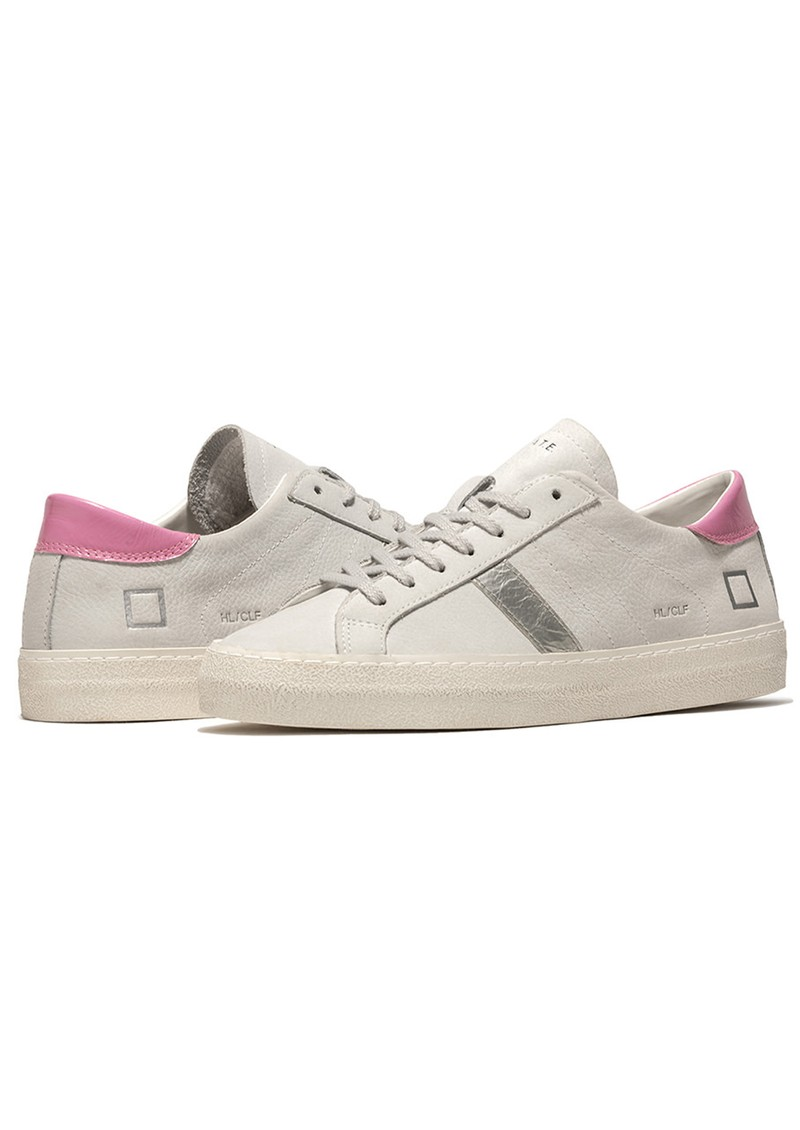 D.A.T.E Hill Low Trainers - Vintage White & Silver main image