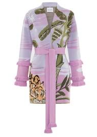 HAYLEY MENZIES Drinking Tiger Cotton Jacquard Cardigan - Lilac