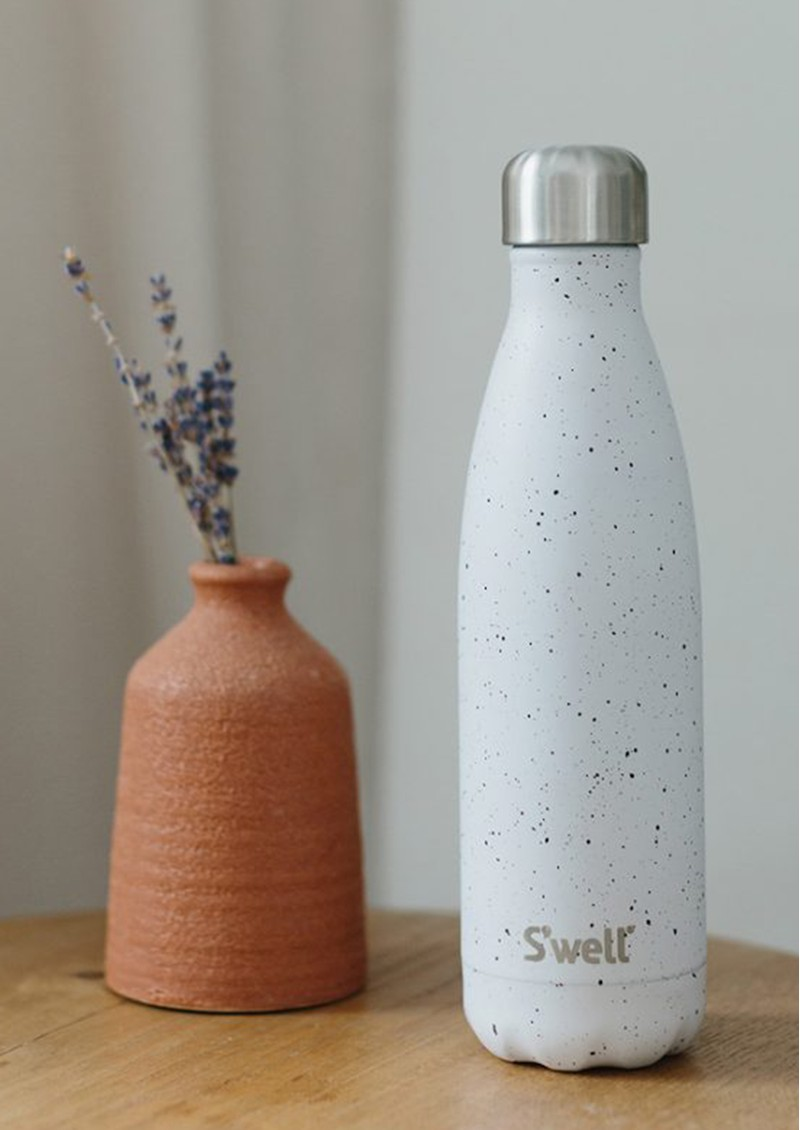 SWELL The Ceramics 17oz Water Bottle - Speckled Moon main image