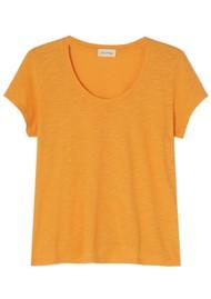 American Vintage Jacksonville U Neck Short Sleeve T-Shirt - Vintage Apricot