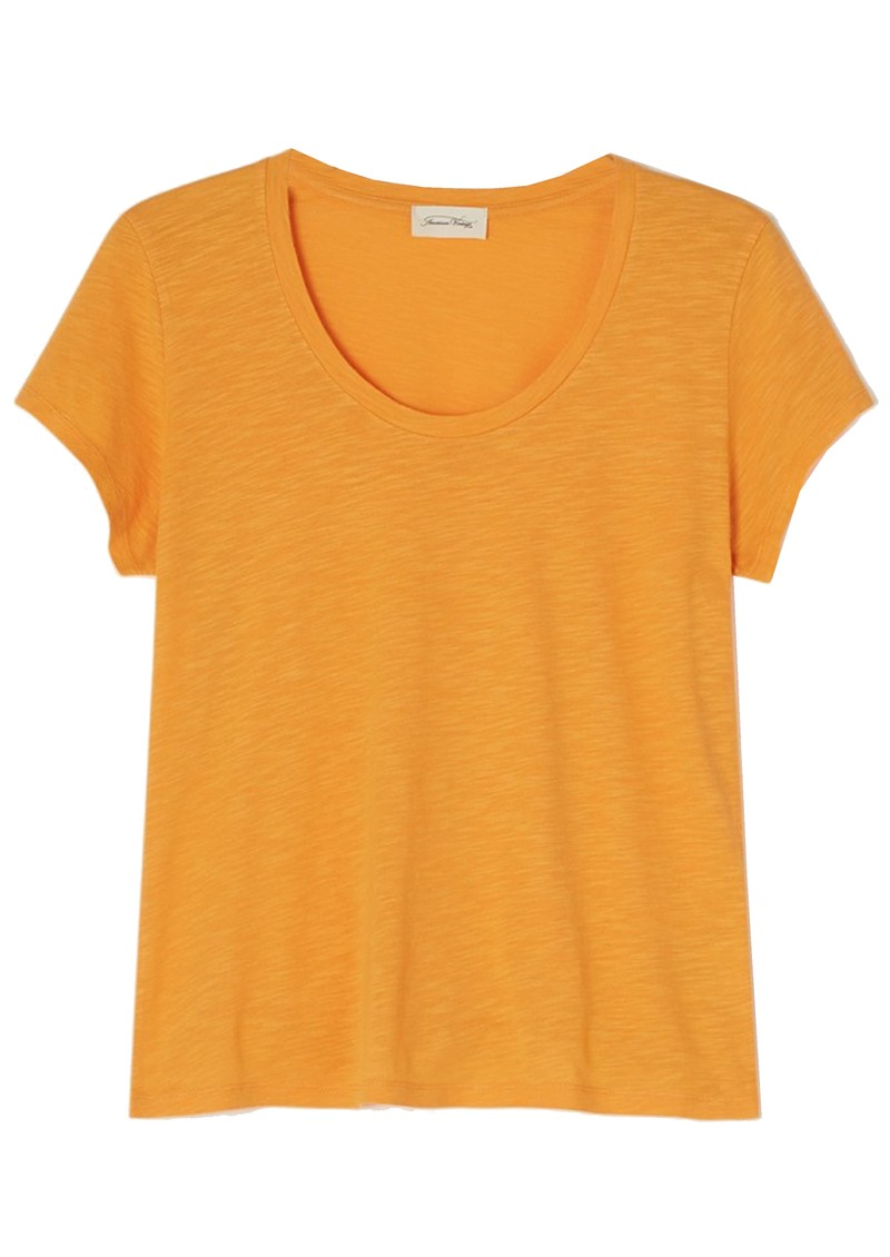 American Vintage Jacksonville U Neck Short Sleeve T-Shirt - Vintage Apricot main image