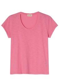 American Vintage Jacksonville U Neck Short Sleeve T-Shirt - Vintage Candy