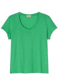 American Vintage Jacksonville U Neck Short Sleeve T-Shirt - Vintage Spring