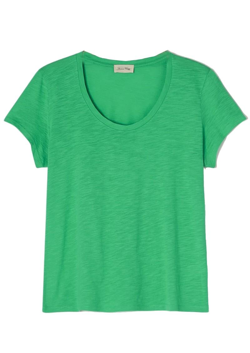 American Vintage Jacksonville U Neck Short Sleeve T-Shirt - Vintage Spring main image