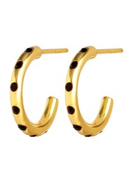 LULU COPENHAGEN Omg Hoop Earrings - Gold & Black