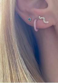 LULU COPENHAGEN Blomst Stud Earring - Turquoise