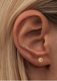 LULU COPENHAGEN Blomst Stud Earring - Peach