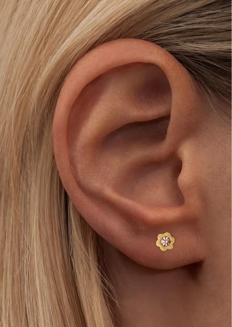 LULU COPENHAGEN Blomst Stud Earring - Peach main image