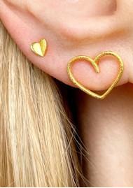 LULU COPENHAGEN Heart Wings Stud Earring - Gold