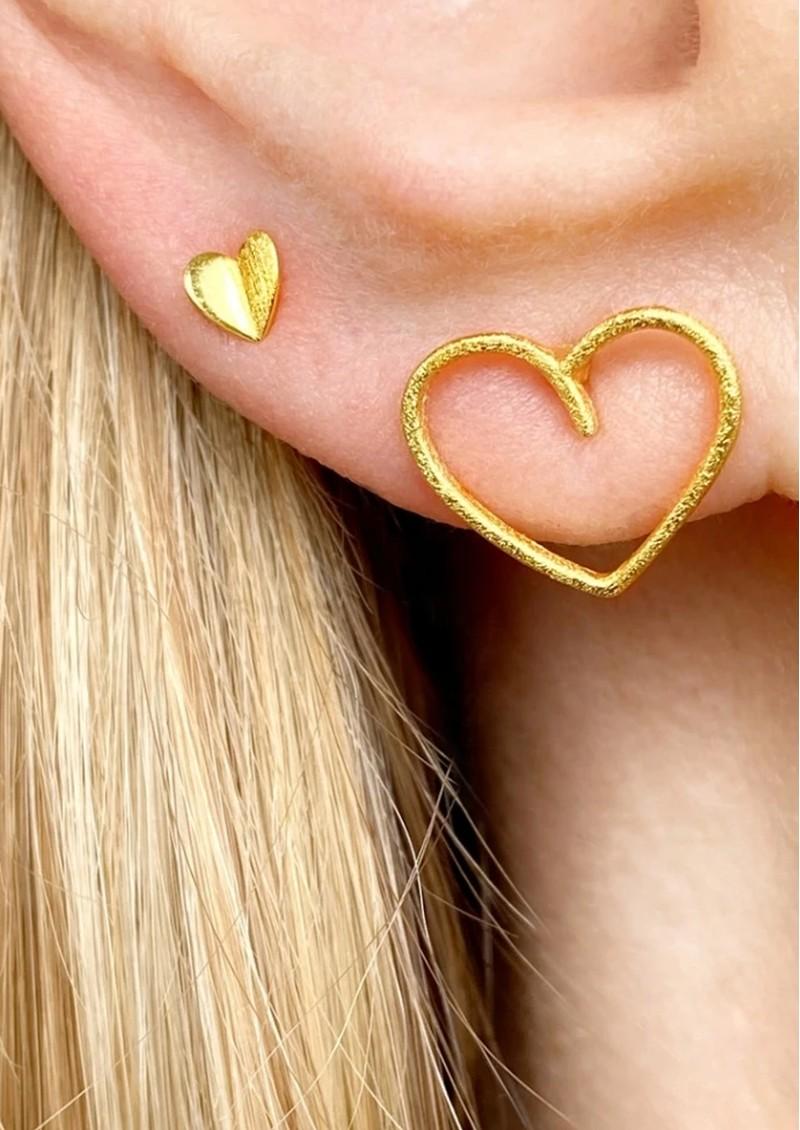 LULU COPENHAGEN Heart Wings Stud Earring - Gold main image