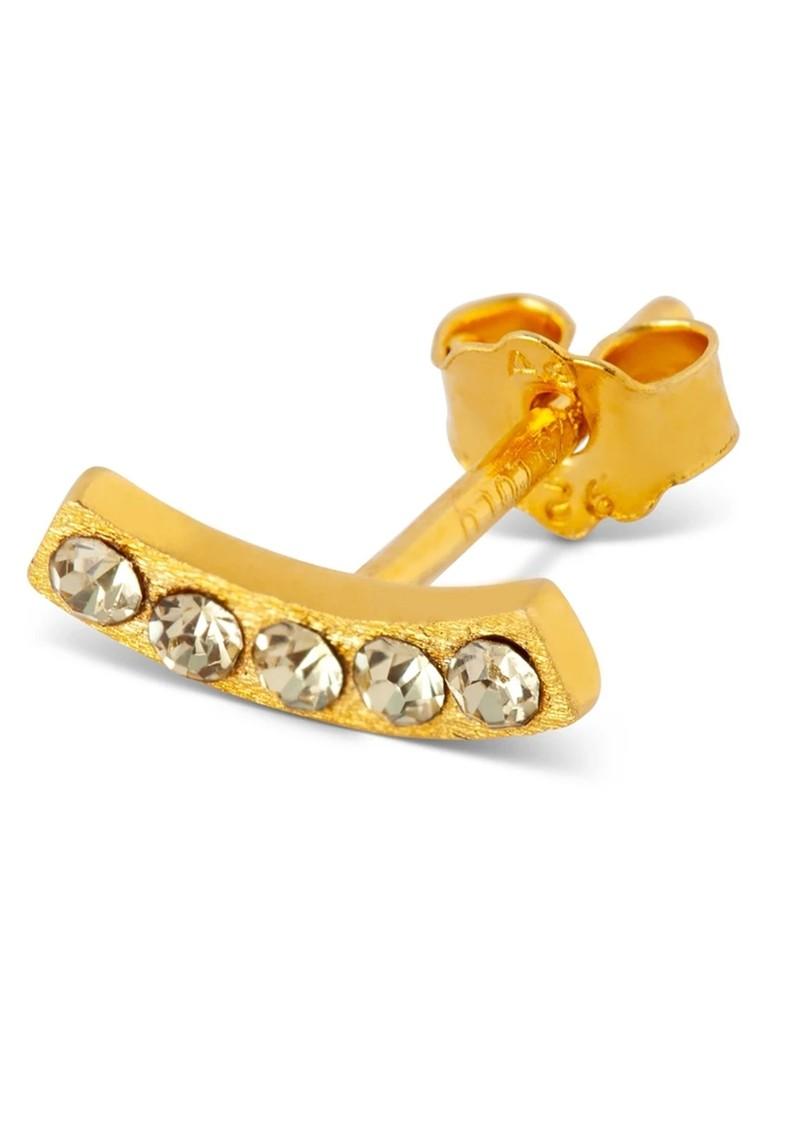LULU COPENHAGEN Happy Crystal Stud Earring - Gold & Champagne main image