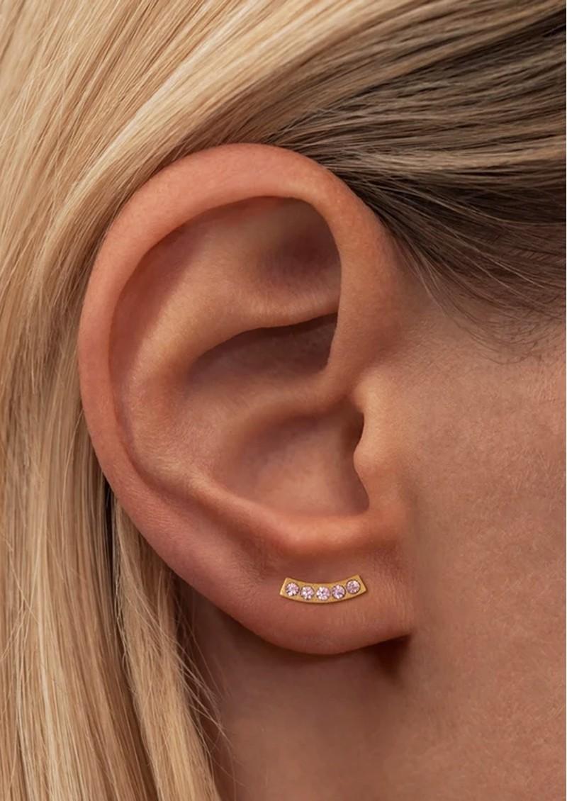 LULU COPENHAGEN Happy Crystal Stud Earring - Gold & Rose main image
