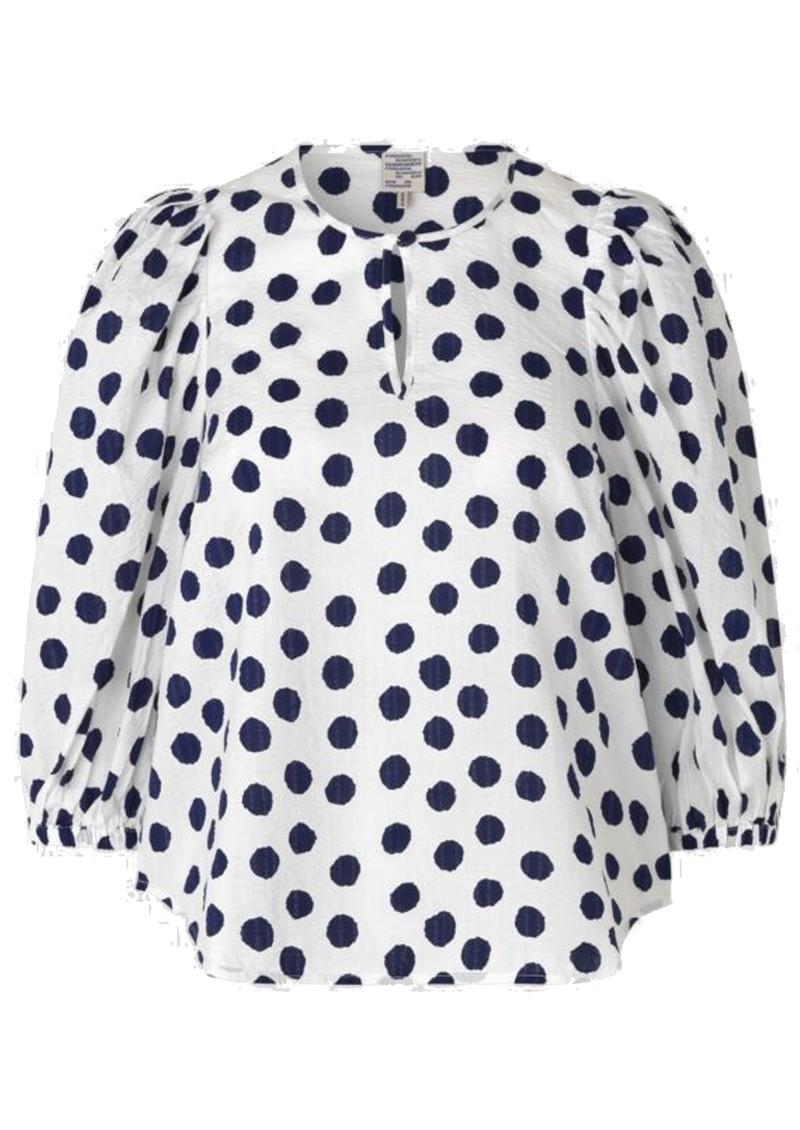BAUM UND PFERDGARTEN Miha Cotton Top - Blue Polka Dot main image