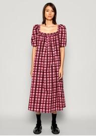 BAUM UND PFERDGARTEN Aiko Cotton Dress - Pink Plaid