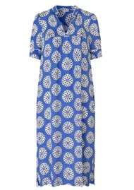 BAUM UND PFERDGARTEN Agueda Silk Mix Dress - White, Blue Rosette
