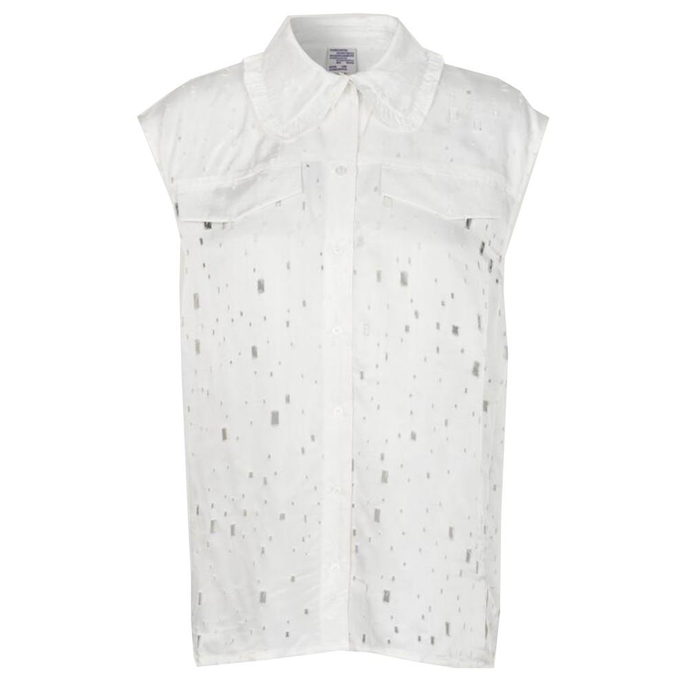 Mukunda Sleeveless Shirt - Lacy White